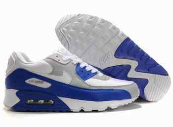 Nike Air Max 90 Blanche Et Bleu
