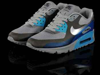 soude tome 13 - Chaussures Nike Air Max 90 Gris/ Noir/ Argent/ Bleu [nike_11188 ...